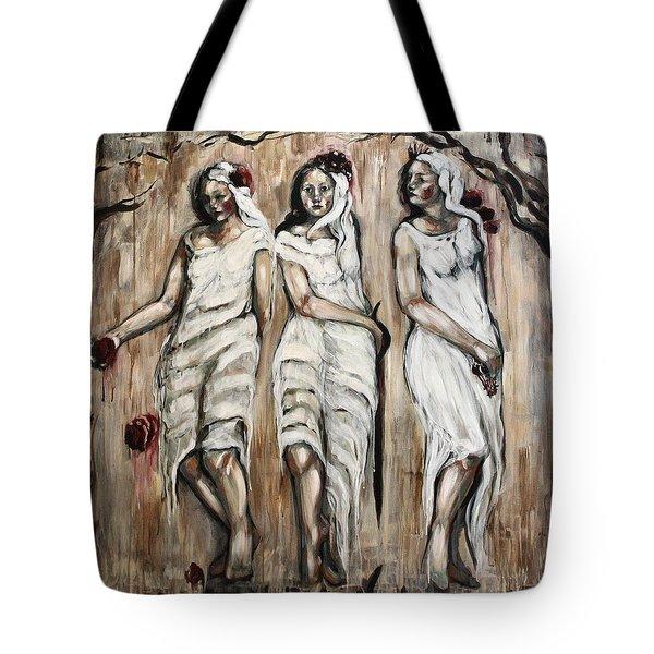 Sisters Of Mercy Tote Bag by Carrie Joy Byrnes