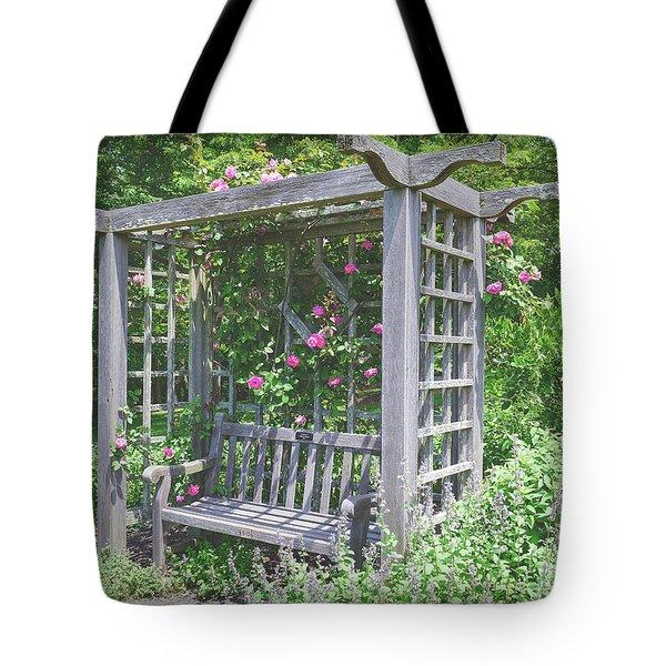 Sit Awhile Tote Bag