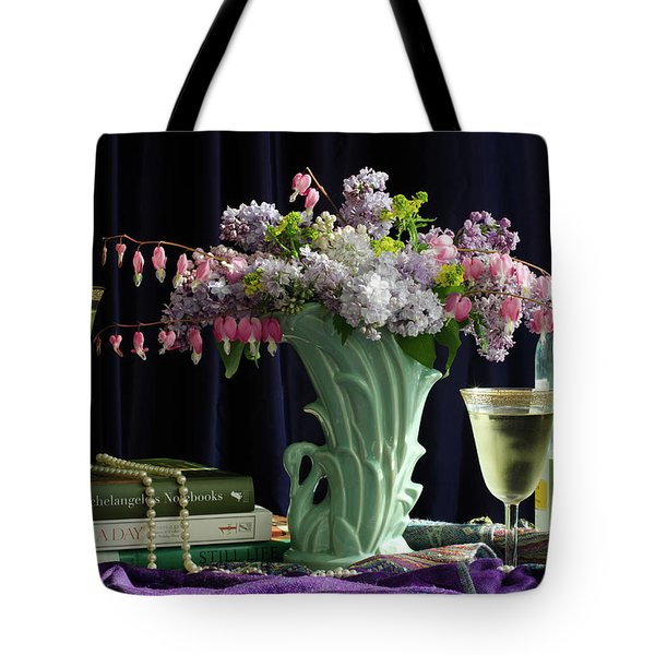 Sit, Sip And Smell, May 2017 Tote Bag by Wendy Blomseth