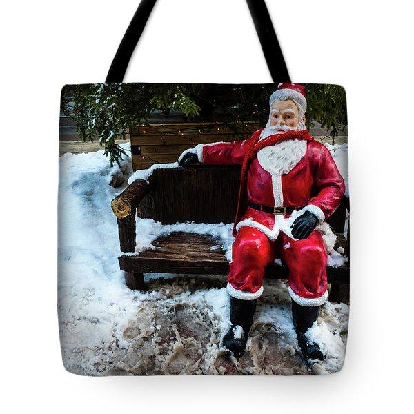 Sit With Santa Tote Bag