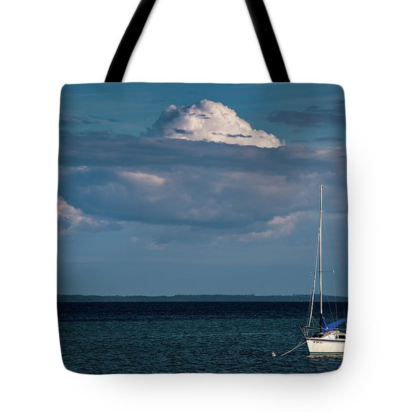 Tote Bag featuring the photograph Sittin By The Bay by Onyonet  Photo Studios