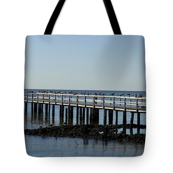 Sittin' On The Dock By The Bay Tote Bag