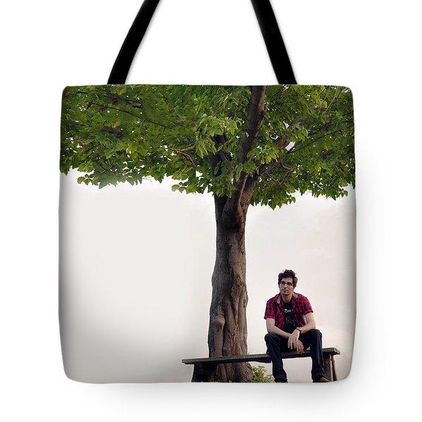 Sitting Alone Tote Bag