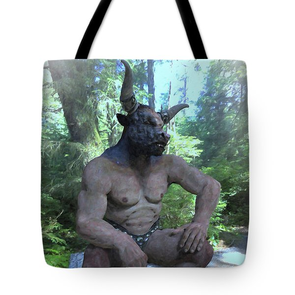 Sitting Bull Tote Bag by Joaquin Abella