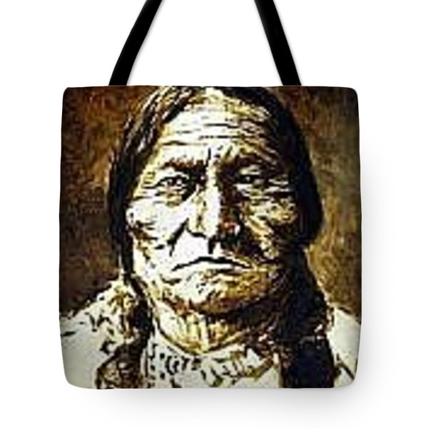 Sitting Bull Tote Bag by Kevin Heaney