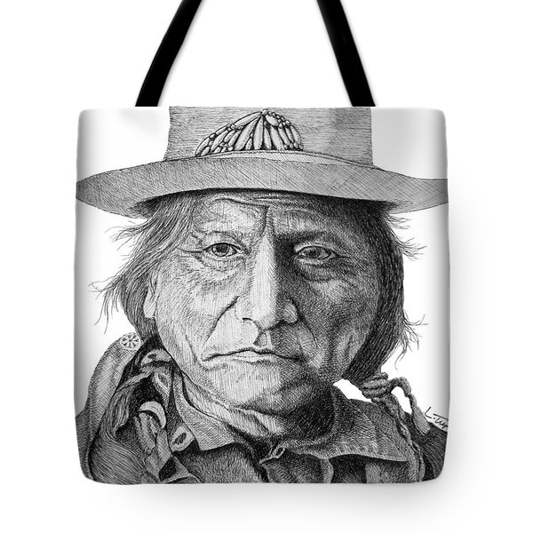 Sitting Bull Tote Bag by Lawrence Tripoli