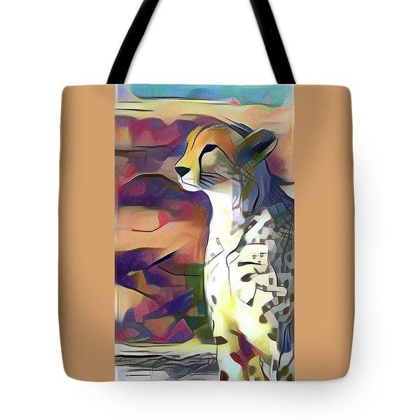 Sitting Cheetah  Tote Bag