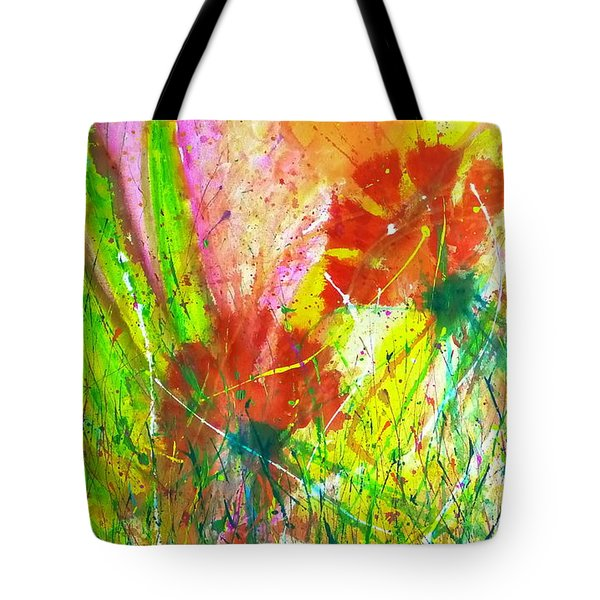 Sitting In The Garden Tote Bag