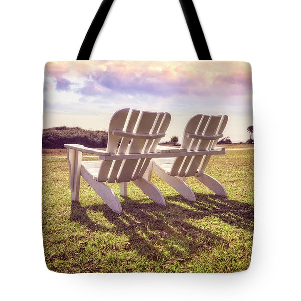 Tote Bag featuring the photograph Sitting In The Sun by Debra and Dave Vanderlaan