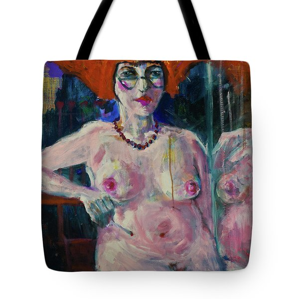 Sitting Nude Tote Bag