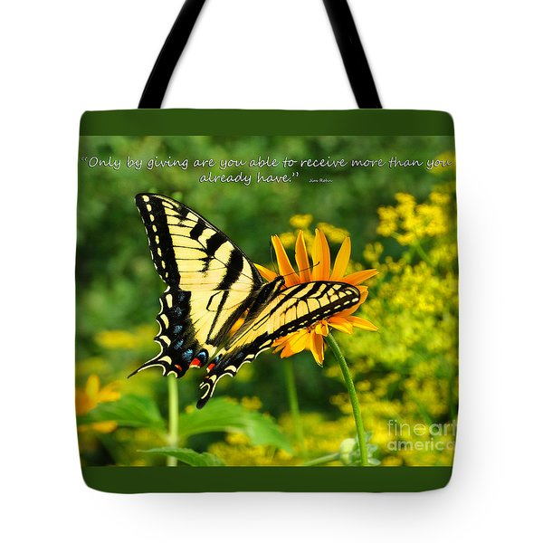 Sitting Pretty Giving Tote Bag by Diane E Berry