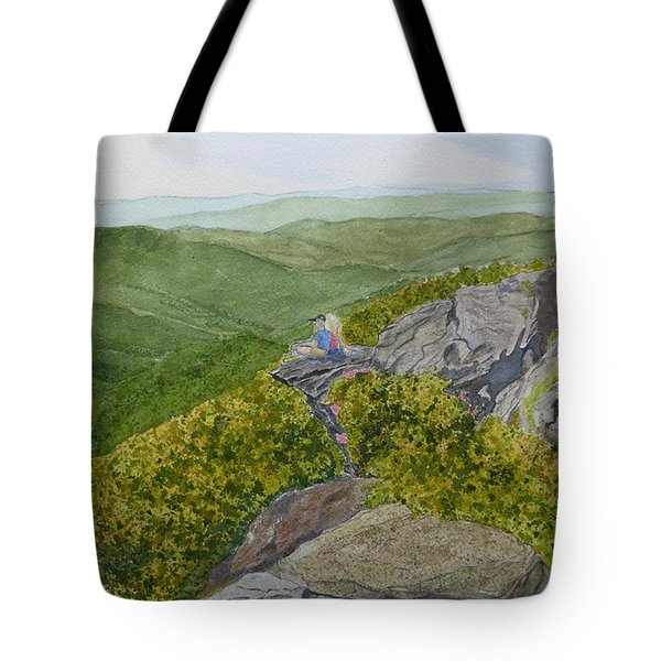 Tote Bag featuring the painting Sitting Pretty  by Joel Deutsch