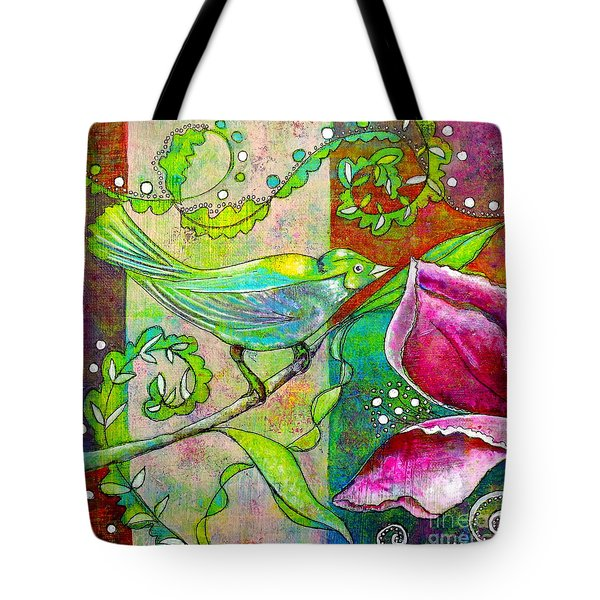 Sitting Pretty Tote Bag by Julie  Hoyle