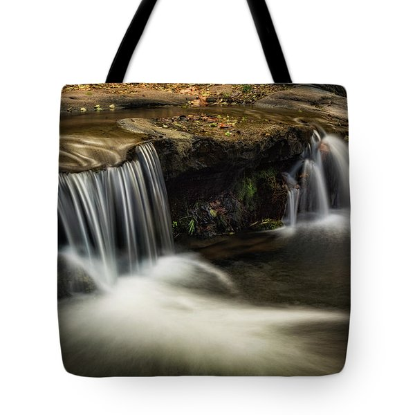 Tote Bag featuring the photograph Sitting Under The Waterfall  by Saija Lehtonen