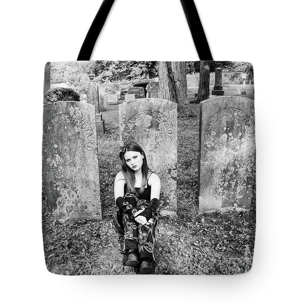 Sitting With The Dead Tote Bag