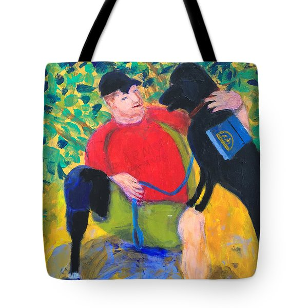 One Team Two Heroes-4 Tote Bag by Donald J Ryker III