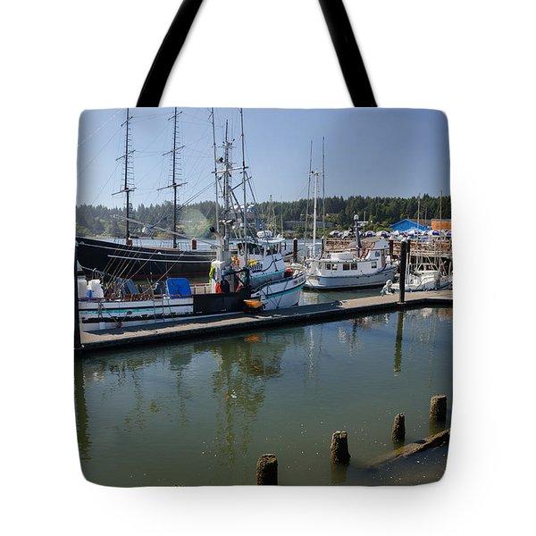 Siuslaw Marina Tote Bag