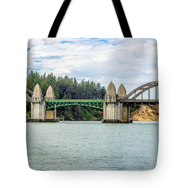 Siuslaw River Draw Bridge  Tote Bag