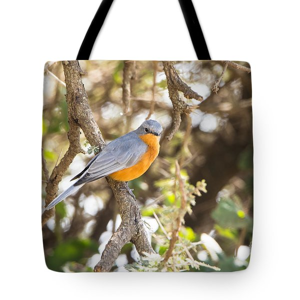 Tote Bag featuring the photograph Siverbird In The Bush by Pravine Chester