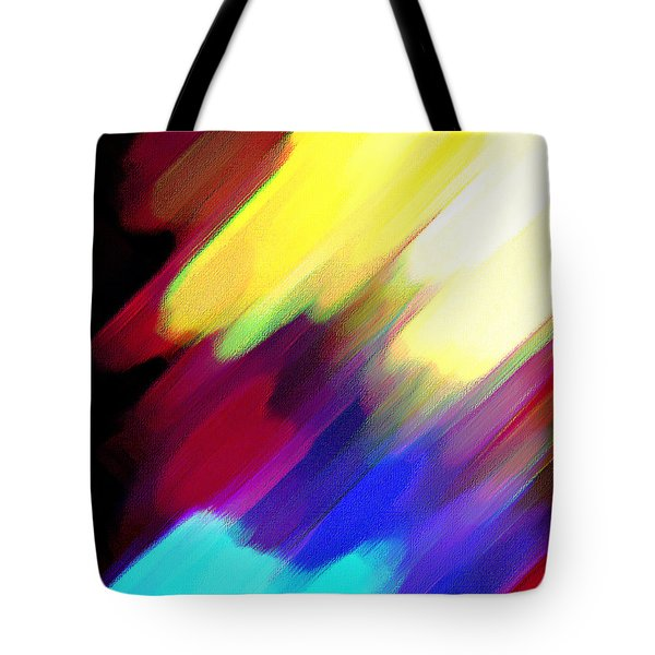 Tote Bag featuring the painting Sivilia 1 Abstract by Donna Corless