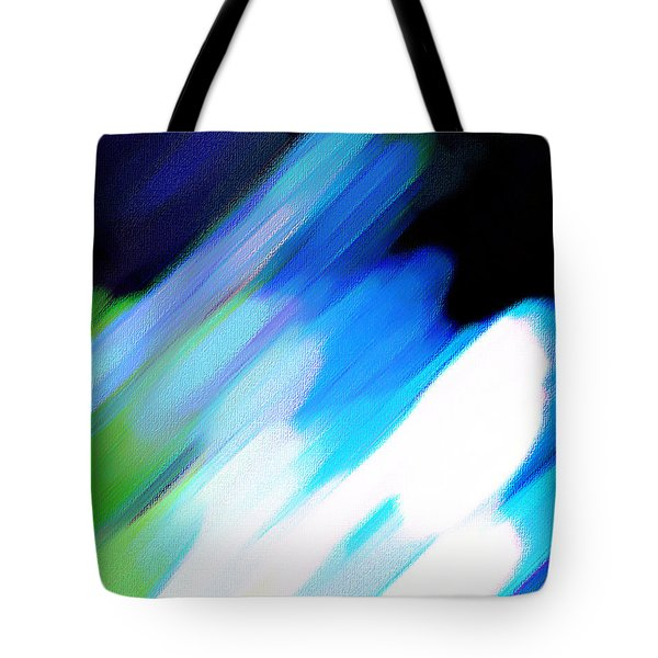 Tote Bag featuring the painting Sivilia 10 Abstract by Donna Corless