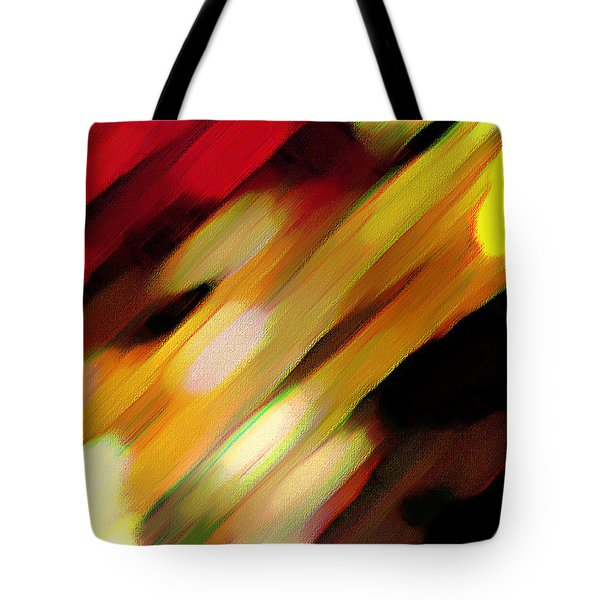 Tote Bag featuring the painting Sivilia 11 Abstract by Donna Corless