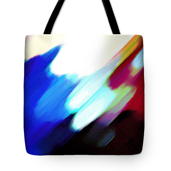 Tote Bag featuring the painting Sivilia 12 Abstract by Donna Corless