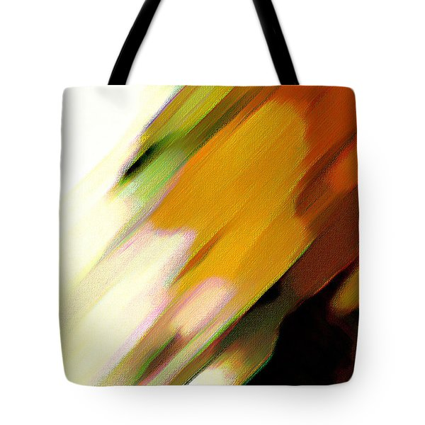 Tote Bag featuring the painting Sivilia 2 Abstract by Donna Corless