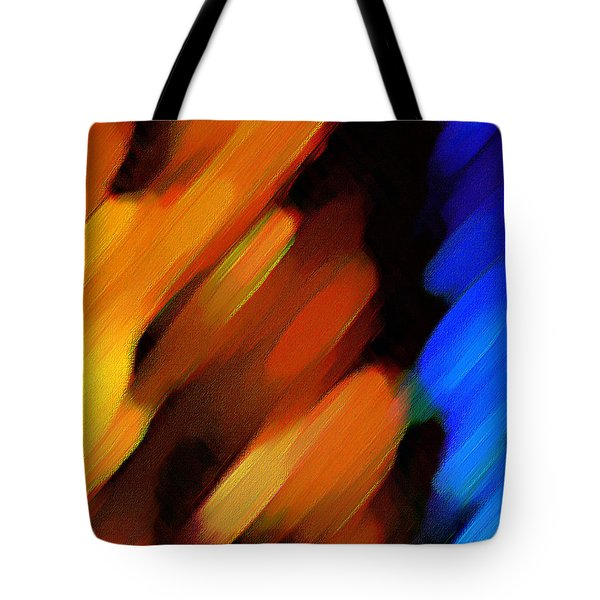 Tote Bag featuring the painting Sivilia 3 Abstract by Donna Corless