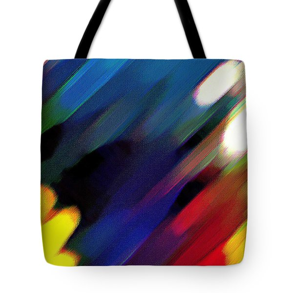 Tote Bag featuring the painting Sivilia 4 Abstract by Donna Corless