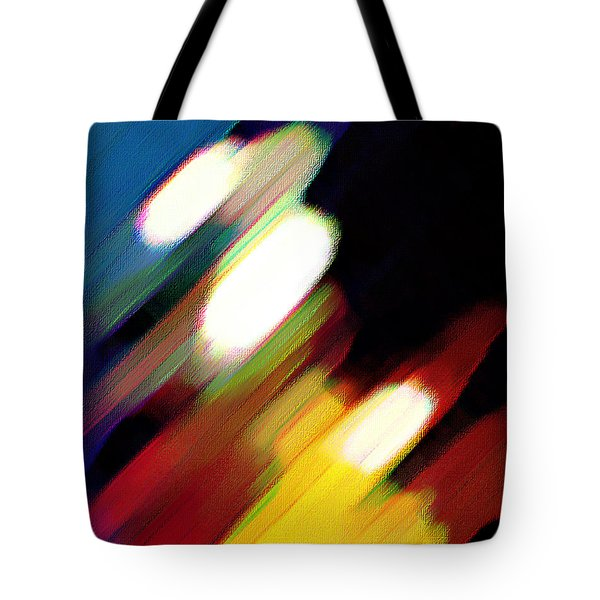 Tote Bag featuring the painting Sivilia 5 Abstract by Donna Corless