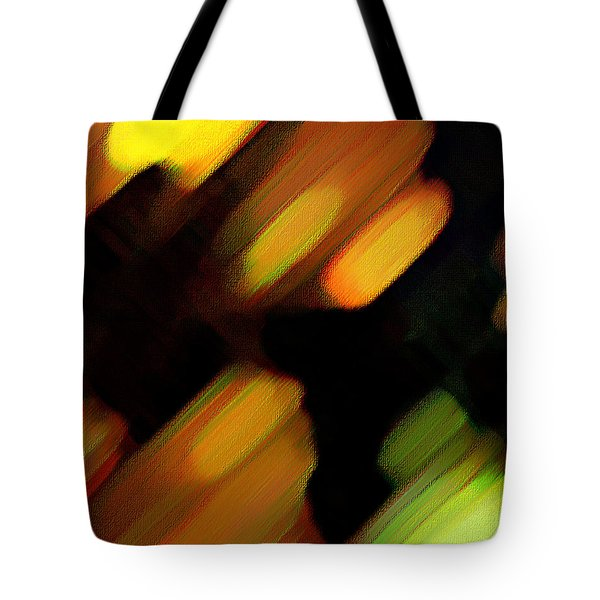 Tote Bag featuring the painting Sivilia 6 Abstract by Donna Corless