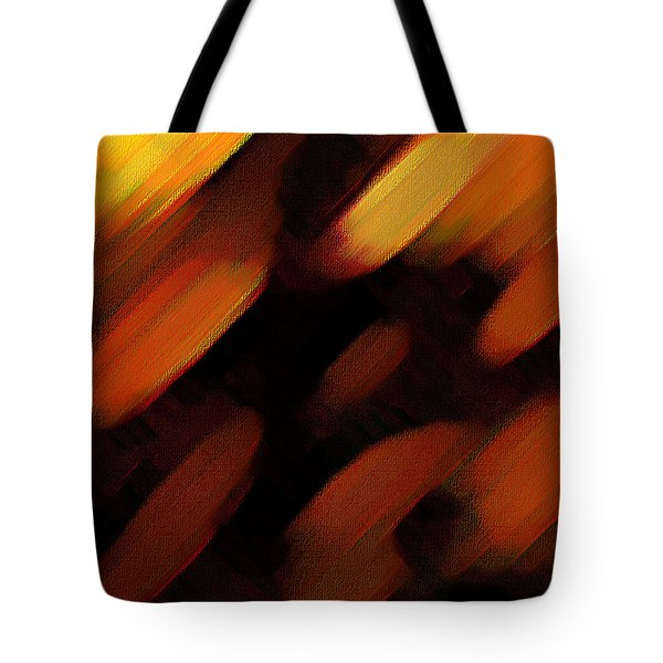Tote Bag featuring the painting Sivilia 7 Abstract by Donna Corless