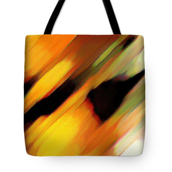 Tote Bag featuring the painting Sivilia 8 Abstract by Donna Corless