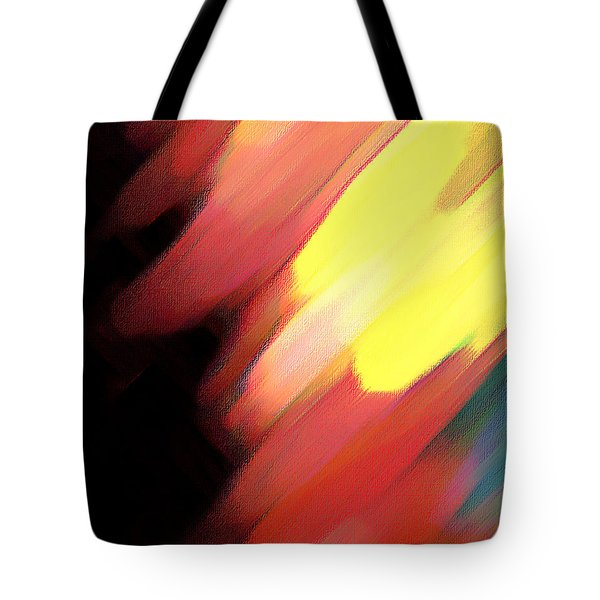 Tote Bag featuring the painting Sivilia 9 Abstract by Donna Corless