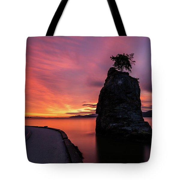 Siwash Rock Along The Sea Wall Tote Bag