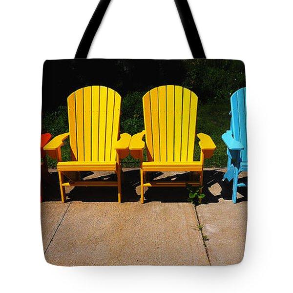 Six Chairs Tote Bag