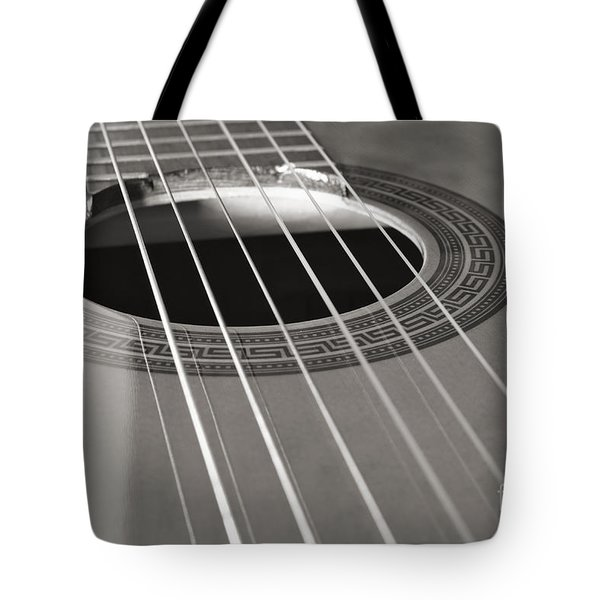 Six Guitar Strings Tote Bag by Angelo DeVal