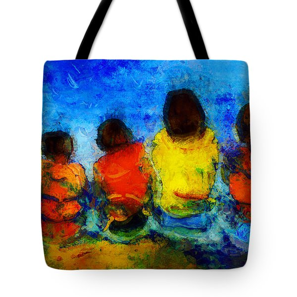 Six On The Shore  Tote Bag