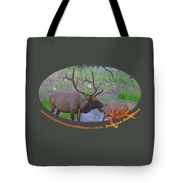 Six Point Bull Elk In Colorado Tote Bag