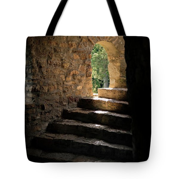 Six Steps And Sunlight Tote Bag