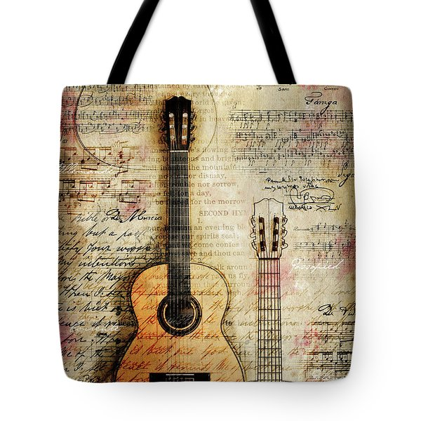 Six String Sages Tote Bag by Gary Bodnar