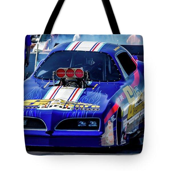 Sizemore Construction Pontiac Funny Car Tote Bag