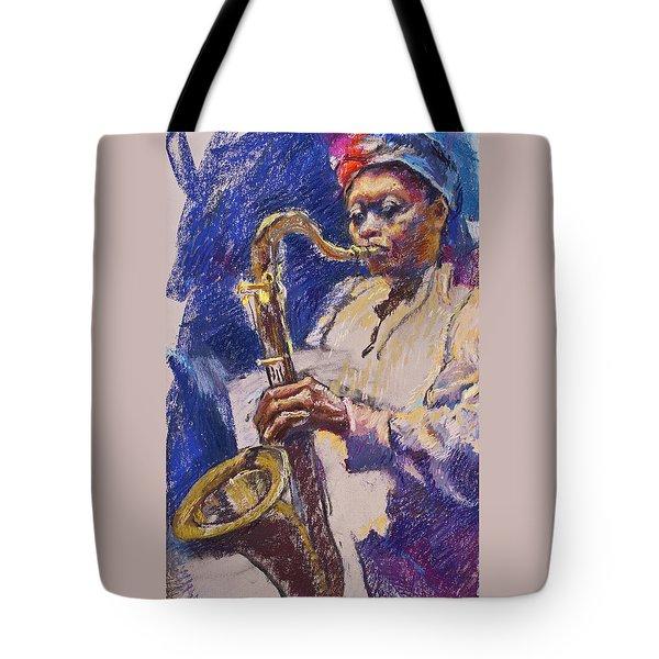 Sizzlin' Sax Tote Bag
