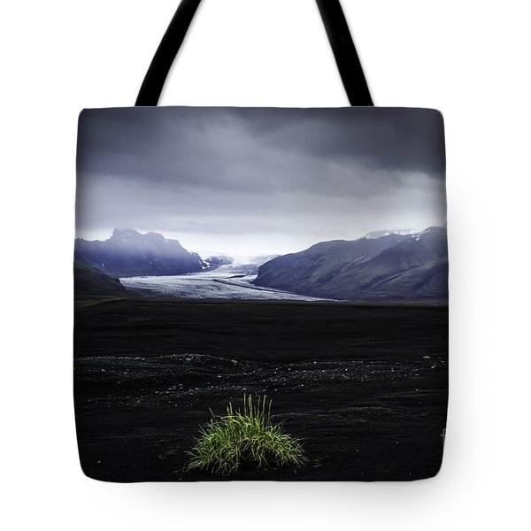 Tote Bag featuring the photograph Skaftafellsjokull Glacier by Nancy Dempsey