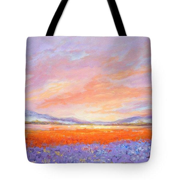 Skaggit Valley Tulips Tote Bag
