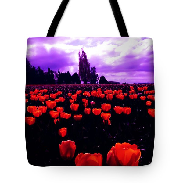 Tote Bag featuring the photograph Skagit Valley Tulips by Eddie Eastwood