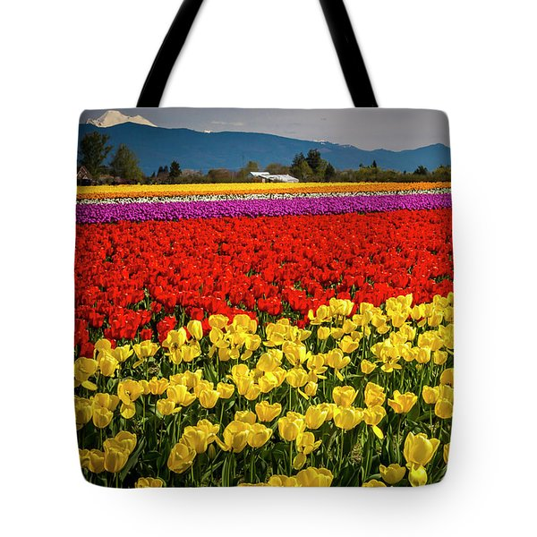 Skagit Valley Tulips  Tote Bag