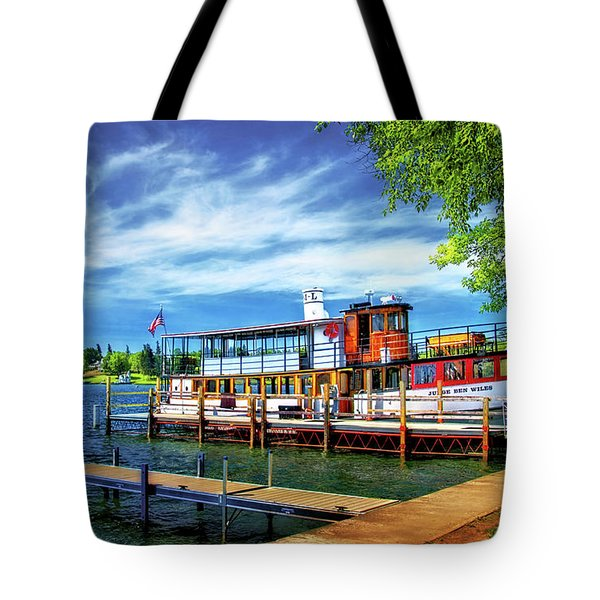 Skaneateles Lake Cruise Boat Tote Bag