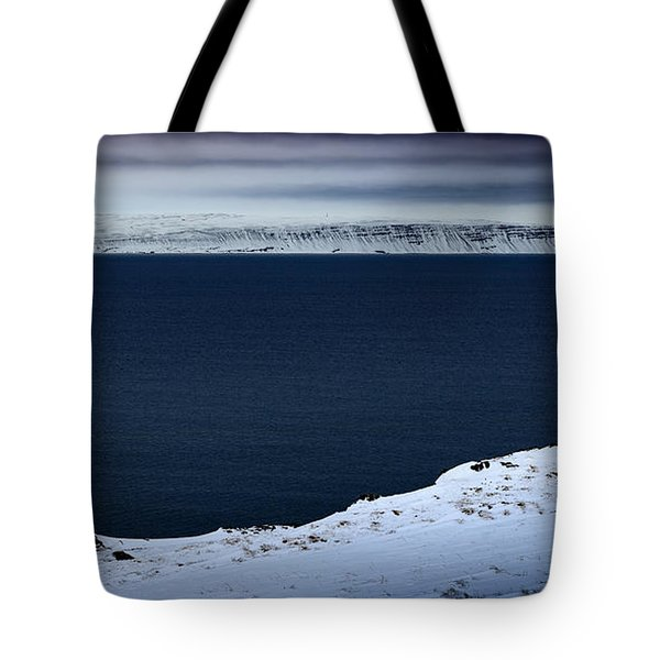 Skardsviti Lighthouse, Iceland Tote Bag